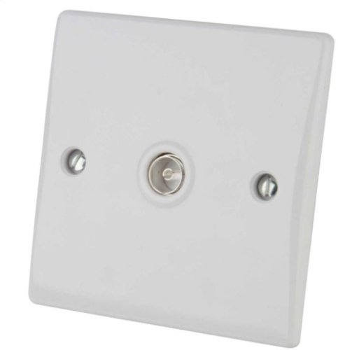Ultimate Slimline - TV/FM socket - coaxial - 1 gang - white